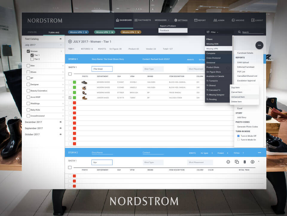 Nordstrum web application
